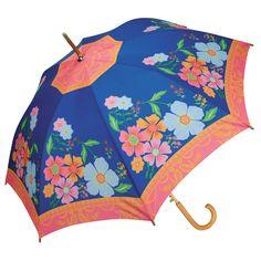 Ana Davis Shade Garden Auto Open Cane Umbrella