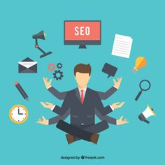 Seo consultant Free Vector