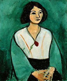 Lady in Green with a Red Carnation - Henri Matisse - Hand-Painted Art Reproduction