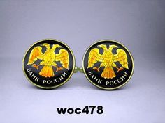 Russia  coin cufflinks doubleheaded eagle choice of by wowcoin, $35.00