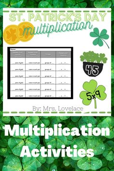 Make March all about St. Patrick's Day with fun multiplication practice games for 2's and 5's. This resource includes 2 different games to play and can be adapted to use manipulatives or the included printable cards. Includes: -multiplication dice game for equal groups -multiplication sentence matching cards of 2's and 5's -skip counting practice worksheet pages (5) -equal groups practice recoding sheet Multiplication Dice Games, Math Games, Games To Play, Grade My Teacher, Skip Counting, Different Games, Matching Cards, Pot Of Gold, Fun Math