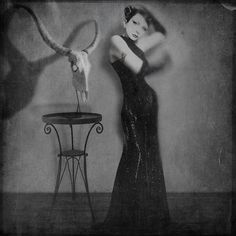 Self Portrait - Thea Curtis is a designer from Switzerland. She's mostly into self portrait photography, black and white, all hazy and blurry, and brilliantly textured. She's a master of her craft and her photos never fail to amaze and intrigue anyone who comes across them.