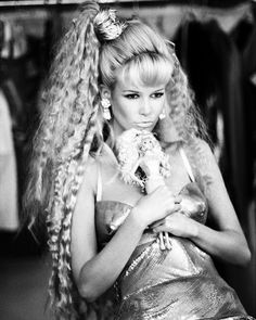"the-original-supermodels: ""Claudia: The Real Barbie - Vogue Italia Claudia Schiffer by Ellen von Unwerth "" Claudia Schiffer, Ellen Von Unwerth, Barbie Life, Barbie World, Barbie Dog, Pink Barbie, Barbie Dress, Crimped Hair, Living Dolls"