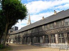 aitre St Maclou Rouen France  qui abrite l ecole des beaux arts Rouen, France, Normandy, Louvre, Building, Travel, Places, Houses, Normandie