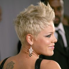 Short Blonde Hair (Pink) love this cut on pink:)!