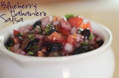 We LOVED this Blueberry Habanero Salsa!  What a unique and tasty twist on a classic. @allrecipes