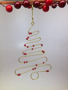 Craft Idea Pinterest Christmas Tree | SoftFlexGirl: DIY Christmas - Craft Wire Christmas Tree Ornament Made ...