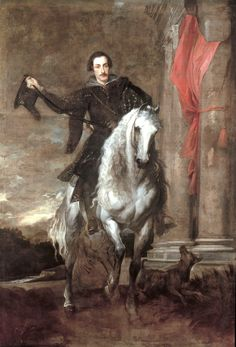 Sir Anthony van Dyck, Equestrian Portrait of Anton Giulio Brignole Sale, 1627