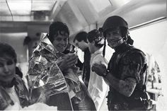 Aliens - Behind the scenes photo of Sigourney Weaver & Bill Paxton Aliens 1986, Aliens Movie, Bill Paxton Aliens, Science Fiction, Conan The Destroyer, The Exorcist 1973, Gangs Of New York, Donald Sutherland, Day Lewis