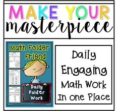 """Daily-Engaging Math Practice in one folder! I use this folder in many ways. In my class we call the folder our Math Friend. I use them if I need the students to pick up and work on something quickly (i.e. parent in the room). I use them when we do calendar, it keeps the kids engaged perfectly. They love to fill in the information in their Math Friend as I do the calendars. """"I'm done!"""" This folder is great for early finishers I sometimes tell"""