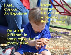 More alike than different, Down Syndrome awareness images from betterthanexpected321.wordpress.com