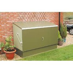 W x 3 ft. D Metal Horizontal Bike Shed Rowlinson online. Shop the latest collection of ft. W x 3 ft. D Metal Horizontal Bike Shed Rowlinson from the popular stores - all in one Bicycle Storage Shed, Outdoor Bike Storage, Bike Shed, Plastic Storage Sheds, Wood Storage Sheds, Wall Storage, Garbage Shed, Metal Shed, Shed Doors