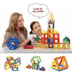 58PCS Magnetic Car Construction Building Toys Children Educational Blocks Hot Selling