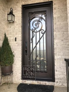 Iron Lion Entries - Custom Iron Door - What a unique design drawn up by one of our customers!  We are able to do any type of design for our doors.  If you have something in mind for your home, give us a call!
