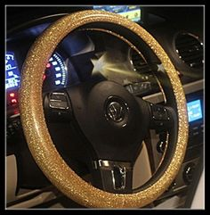 Hyun color steering wheel cover bling cover girls gold four seasons green