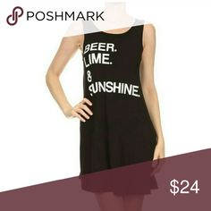 BEER LIME & SUNSHINE Sleeveless Dress BEER LIME & SUNSHINE Sleeveless Dress Dresses
