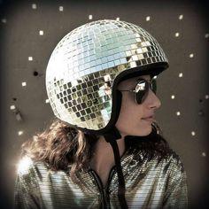 DIY Disco Ball Helmet.