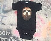 funny baby onesie Jason Voorhees Friday the 13th scary horror movie