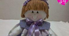 NÃO FUI EU QUEM FIZ, ACHEI NA NET, SE ALGUÉM SOUBER O NOME DA ARTESÃ, FAVOR ME INFORMAR PARA DAR OS DEVIDOS CRÉDITOS.      1. Moldes.  A c... Creations, Lily, Disney Princess, Sewing, Disney Characters, Rag Doll Costumes, Doll Hair, Cloth Doll Making, Doll Patterns