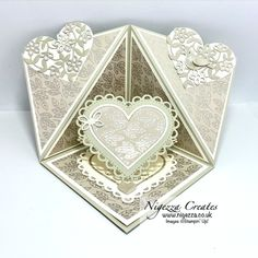 Nigezza Creates with Stampin' Up! Many Hearts Dies & Love You Always DSP Easel Cards, 3d Cards, Stampin Up Cards, Make Tutorial, Mini Album Tutorial, Fancy Fold Cards, Folded Cards, Paper Daisy, Card Tutorials