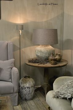 Beautiful floor lamp with stone base 130 cm - Home Decor Ideas London Living Room, My Living Room, Home And Living, Swedish Interior Design, Interior Decorating, Natural Home Decor, Eclectic Decor, Home Decor Furniture, Home Accents