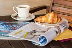 雑誌, コーヒー ブレーク, カップ, メディア, 読み取り, スタイル, リラックス, レジャー, 定期