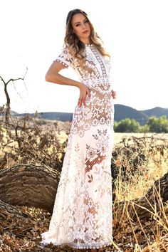 f0ace7cdfd7228 Beautiful all lace maxi dress. Beautiful heavier weight lace with a silky  feeling to it