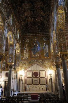 """arthistorycq: """"Palacio de los Normandos, la Capilla Palatina Lugar: Palermo, Italia 1132 absolutamente impresionantes mosaicos!  """""""