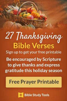 Read our favorite thanksgiving prayers to inspire you and your family to talk about your blessings over Thanksgiving dinner. These are also wonderful to pray any day of the year as you seek to experience a heart of gratitude! Thankful Bible Verses, Bible Love, Prayer Scriptures, Bible Prayers, Prayer Quotes, Bible Verses Quotes, Thanksgiving Prayers, Thanksgiving Bible Verses, Scripture Study