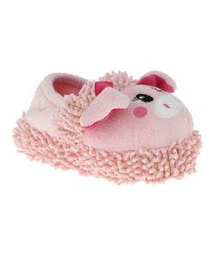 Love this Pink Mop Fringe Pig Slipper by Capelli New York on #zulily! #zulilyfinds