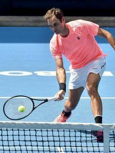 Roger Federer entraînement Melbourne - Australian Open 2018