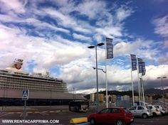Cruise Ship arriving at the port of Malaga