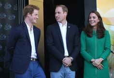 Pin for Later: Prince William and Prince Harry's Cutest Moments Together Through the Years  Prince Harry was all smiles with his brother and sister-in-law while watching Stage 1 of the Tour de France in Harrogate, England, in July 2014.