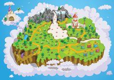 """""""Wonderlandia"""".    Art for board game for kids."""
