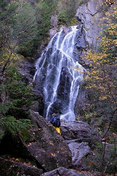 Approaching Angel Falls Houghton, Maine - breathtaking in person!