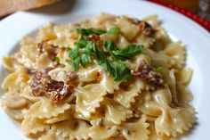 over chicken instead of pasta! Sun Dried Tomato and Brandy Cream Sauce Recipe from Grandmothers Kitchen. Brandy Cream Sauce Recipe, Brandy Sauce, Supper Recipes, Great Recipes, Delicious Recipes, Kitchen Recipes, Cooking Recipes, My Favorite Food, Favorite Recipes