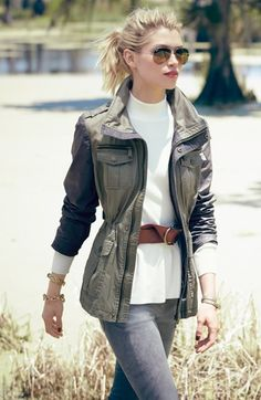 michael kors field jacket- perfect for mild fall weather