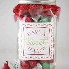 """""""Have a sweet holiday"""" free printable will complete any candy gift this year. #candy #giftideas #freeprintable"""