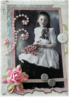 vintage photo Birthday card  http://tumbleweedtess.blogspot.com/