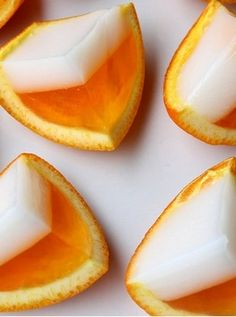 How to Make Candy Corn Jello Shots. Dress up your jello shots for Halloween by turning them into your favorite spooky sweet: candy corn! With layers of white, orange, and yellow gelatin, candy corn jello shots mimic the look of the. Halloween Cocktails, Halloween Desserts, Halloween Treats, Halloween Cupcakes, Halloween Party, Adult Halloween, Halloween Quotes, Halloween Goodies, Holiday Cocktails