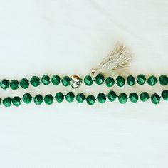 Deep Green And Grey necklace # Frago-là #handmade
