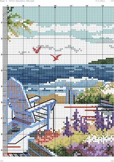 Cross Stitch Sea, Cross Stitch House, Cute Cross Stitch, Beaded Cross Stitch, Cross Stitch Flowers, Cross Stitch Charts, Cross Stitch Embroidery, Cross Stitch Sampler Patterns, Cross Stitch Samplers