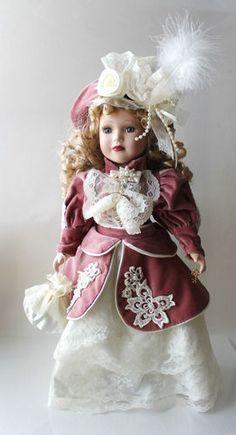 1999 Camellia Garden Collection Brass Key Victorian Porcelain Doll | eBay