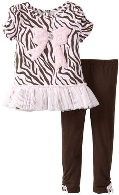Young Hearts Little Girls' 2 Piece Zebra Print with Bow Shirt and Pant, Pink, 2T Young Hearts http://www.amazon.com/dp/B00D4KTFVS/ref=cm_sw_r_pi_dp_V.ehvb12Y031W