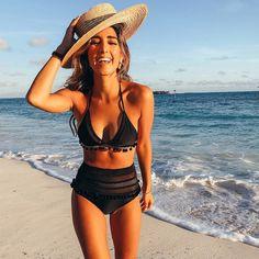 74ac2bbe82c5c High Waist Bikini 2018 Sexy Lace Side Swimwear Women Swimsuit Push Up  Beachwear Bathing Suit Brazilian