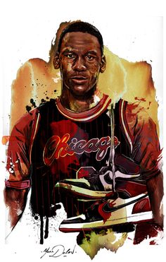 Artist Yann Dalon from Paris, France recreated a young Michael Jordan with the Chicago Bulls in two awesome paintings. Michael Jordan Art, Michael Jordan Pictures, Jordan Photos, Michael Jordan Basketball, Basketball Art, Basketball Pictures, Basketball Legends, Basketball Players, Basketball Scoreboard