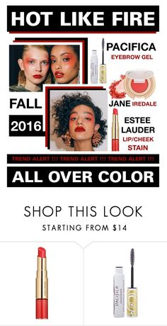 """""""Hot Like Fire"""" by latoyacl ❤ liked on Polyvore featuring beauty, Estée Lauder and Pacifica"""