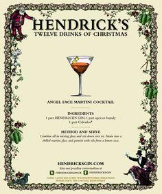 Hendrick's Gin ~ 12 Drinks of Christmas ~ Martinez Cocktail Festive Cocktails, Cocktail Drinks, Fun Drinks, Cocktail Recipes, Beverages, Party Drinks, Christmas Drinks, Holiday Drinks, Holiday Parties