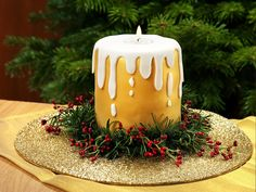 Chocolate Candle Cake Recipe: The Chocolate Candle Cake is a fantastic showstopper that will add a delicious treat to your Christmas table- One of hundreds of delicious recipes from Dr. Christmas Candle, Christmas Cakes, Xmas Cakes, Christmas Baking, Christmas Stuff, Winter Christmas, Edible Glitter Dust, Butter Icing, White Icing