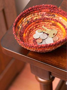 DIY Fabric Scraps Bowl